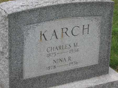 KARCH, NINA R. - Holmes County, Ohio | NINA R. KARCH - Ohio Gravestone Photos