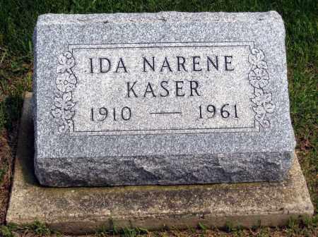 KASER, IDA NARENE - Holmes County, Ohio | IDA NARENE KASER - Ohio Gravestone Photos