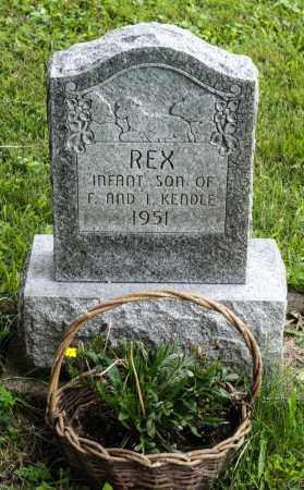 KENDLE, REX FRANKLIN - Holmes County, Ohio | REX FRANKLIN KENDLE - Ohio Gravestone Photos