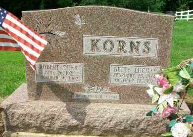 KORNS, ROBERT DUER - Holmes County, Ohio | ROBERT DUER KORNS - Ohio Gravestone Photos
