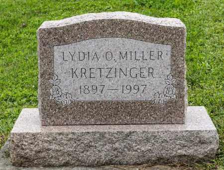 MILLER KRETZINGER, LYDIA O. - Holmes County, Ohio | LYDIA O. MILLER KRETZINGER - Ohio Gravestone Photos