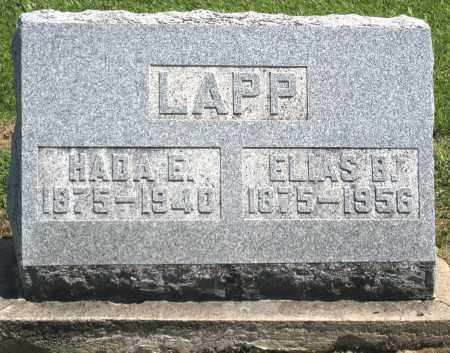 LAPP, HADA E. - Holmes County, Ohio | HADA E. LAPP - Ohio Gravestone Photos