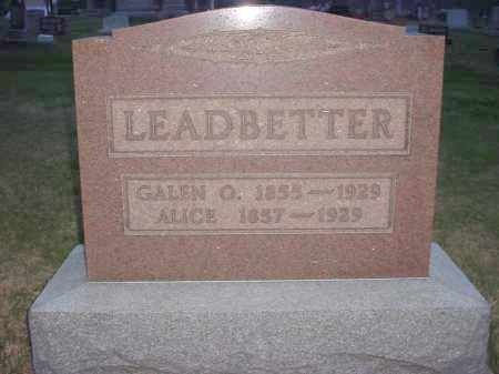 LING LEADBETTER, ALICE - Holmes County, Ohio | ALICE LING LEADBETTER - Ohio Gravestone Photos