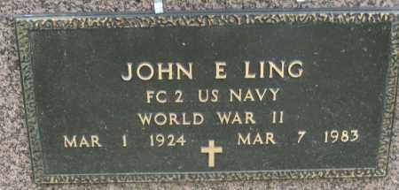LING, JOHN E. - Holmes County, Ohio | JOHN E. LING - Ohio Gravestone Photos