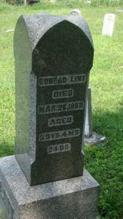 LINT, CONRAD - Holmes County, Ohio | CONRAD LINT - Ohio Gravestone Photos