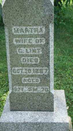 LINT, MARTHA - Holmes County, Ohio | MARTHA LINT - Ohio Gravestone Photos