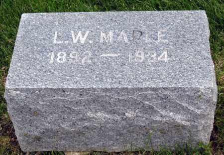 MAPLE, L. W. - Holmes County, Ohio | L. W. MAPLE - Ohio Gravestone Photos