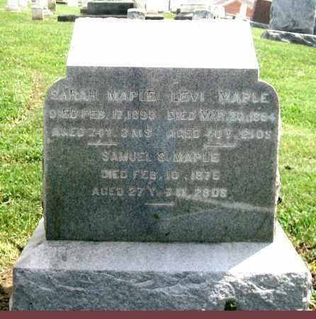MAPLE, SAMUEL S. - Holmes County, Ohio | SAMUEL S. MAPLE - Ohio Gravestone Photos