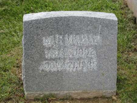 MAPLE, W C - Holmes County, Ohio | W C MAPLE - Ohio Gravestone Photos
