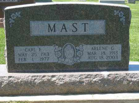 MAST, CARL F - Holmes County, Ohio | CARL F MAST - Ohio Gravestone Photos