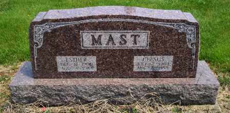 MAST, ESTHER - Holmes County, Ohio | ESTHER MAST - Ohio Gravestone Photos