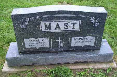 MAST, LOYAL G. - Holmes County, Ohio | LOYAL G. MAST - Ohio Gravestone Photos