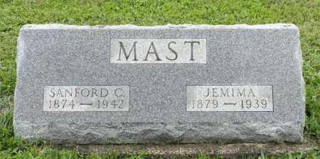 MAST, JEMIMA - Holmes County, Ohio | JEMIMA MAST - Ohio Gravestone Photos