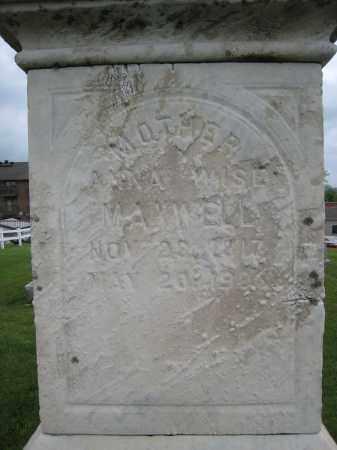 MAXWELL, ANNA - Holmes County, Ohio | ANNA MAXWELL - Ohio Gravestone Photos