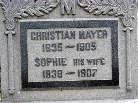MAYER, CHRISTIAN - Holmes County, Ohio | CHRISTIAN MAYER - Ohio Gravestone Photos