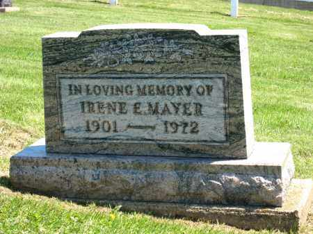 MAYER, IRENE E - Holmes County, Ohio | IRENE E MAYER - Ohio Gravestone Photos