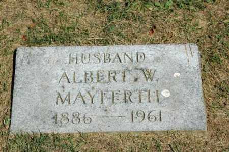 MAYFERTH, ALBERT W. - Holmes County, Ohio | ALBERT W. MAYFERTH - Ohio Gravestone Photos