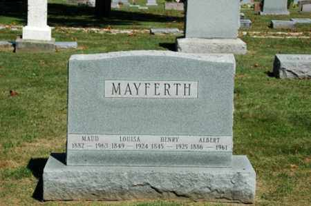MAYFERTH, ALBERT - Holmes County, Ohio | ALBERT MAYFERTH - Ohio Gravestone Photos