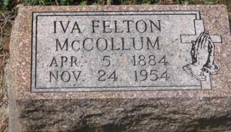 FELTON MCCOLLUM, IVA - Holmes County, Ohio | IVA FELTON MCCOLLUM - Ohio Gravestone Photos