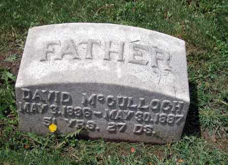 MCCULLOCH, DAVID - Holmes County, Ohio | DAVID MCCULLOCH - Ohio Gravestone Photos