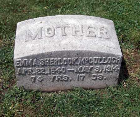 SHERLOCK MCCULLOCH, EMMA - Holmes County, Ohio | EMMA SHERLOCK MCCULLOCH - Ohio Gravestone Photos