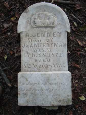 MERRYMAN, A. JENNEY - Holmes County, Ohio | A. JENNEY MERRYMAN - Ohio Gravestone Photos