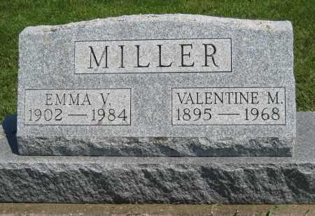 MILLER, VALENTINE M. - Holmes County, Ohio | VALENTINE M. MILLER - Ohio Gravestone Photos