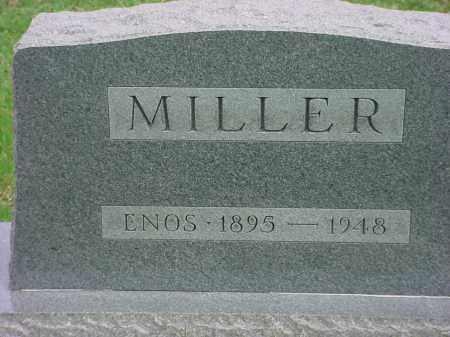 MILLER, ENOS - Holmes County, Ohio | ENOS MILLER - Ohio Gravestone Photos