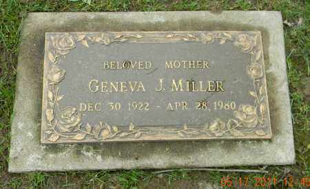 MILLER, GENEVA J. - Holmes County, Ohio   GENEVA J. MILLER - Ohio Gravestone Photos
