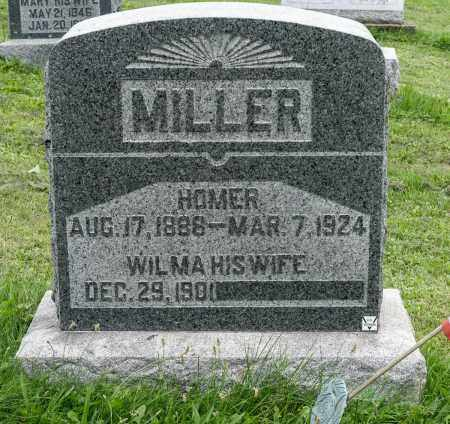 MILLER, HOMER - Holmes County, Ohio | HOMER MILLER - Ohio Gravestone Photos