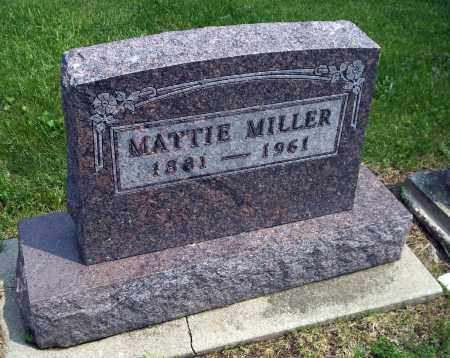 MILLER, MATTIE - Holmes County, Ohio | MATTIE MILLER - Ohio Gravestone Photos
