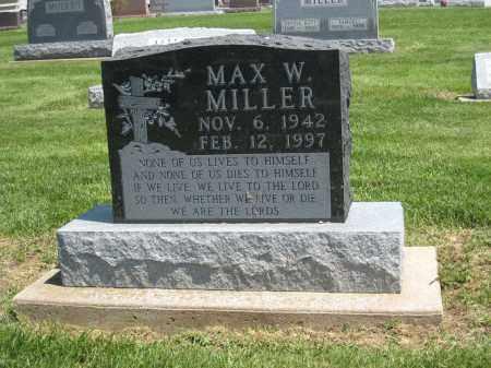 MILLER, MAX W. - Holmes County, Ohio | MAX W. MILLER - Ohio Gravestone Photos