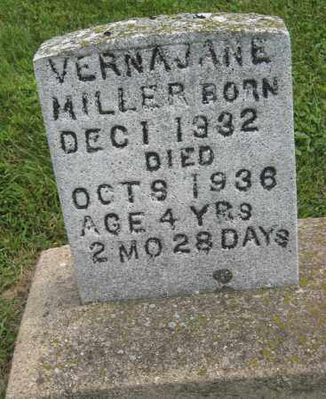 MILLER, VERNA JANE - Holmes County, Ohio | VERNA JANE MILLER - Ohio Gravestone Photos