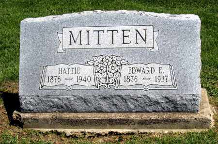 MITTEN, EDWARD E - Holmes County, Ohio | EDWARD E MITTEN - Ohio Gravestone Photos