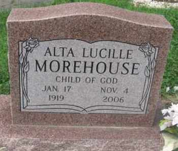 MOREHOUSE, ALTA LUCILE - Holmes County, Ohio | ALTA LUCILE MOREHOUSE - Ohio Gravestone Photos