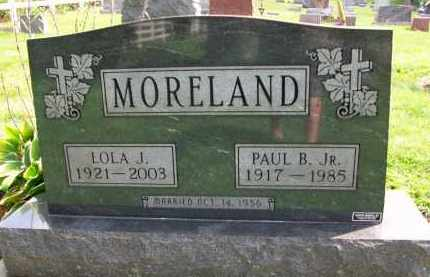 MORELAND, PAUL B. JR. - Holmes County, Ohio | PAUL B. JR. MORELAND - Ohio Gravestone Photos