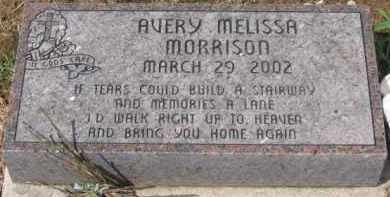 MORRISON, AVERY MELISSA - Holmes County, Ohio | AVERY MELISSA MORRISON - Ohio Gravestone Photos