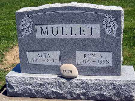 MULLET, ROY A. - Holmes County, Ohio | ROY A. MULLET - Ohio Gravestone Photos