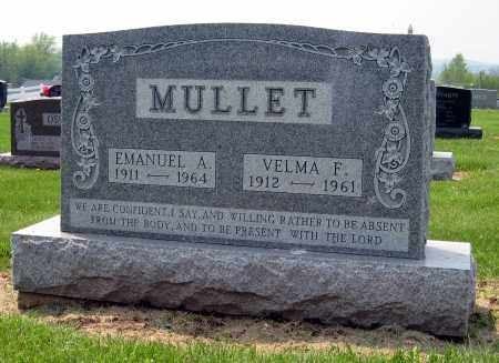 MULLET, VELMA F. - Holmes County, Ohio | VELMA F. MULLET - Ohio Gravestone Photos