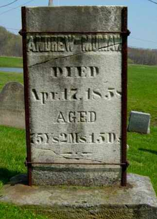 MUMAW, ANDREW - Holmes County, Ohio | ANDREW MUMAW - Ohio Gravestone Photos