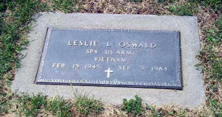 OSWALD, LESLIE L - Holmes County, Ohio   LESLIE L OSWALD - Ohio Gravestone Photos