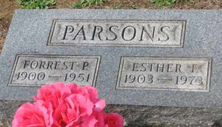 PARSONS, ESTHER F. - Holmes County, Ohio | ESTHER F. PARSONS - Ohio Gravestone Photos