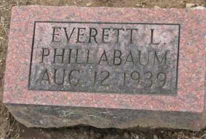 PHILLABAUM, EVERETT L. - Holmes County, Ohio   EVERETT L. PHILLABAUM - Ohio Gravestone Photos