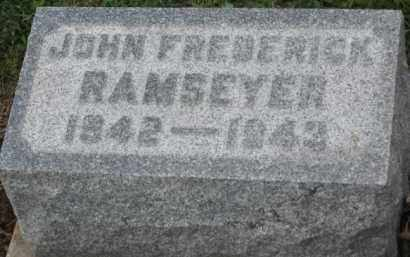 RAMSEYER, JOHN FREDRICK - Holmes County, Ohio | JOHN FREDRICK RAMSEYER - Ohio Gravestone Photos