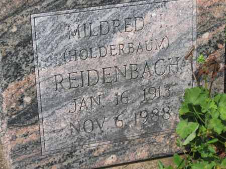 HOLDERBAUM REIDENBACH, MILDRED I. - Holmes County, Ohio | MILDRED I. HOLDERBAUM REIDENBACH - Ohio Gravestone Photos