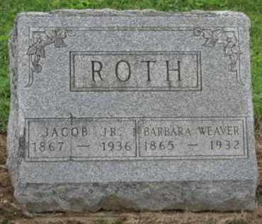 WEAVER ROTH, BARBARA - Holmes County, Ohio | BARBARA WEAVER ROTH - Ohio Gravestone Photos