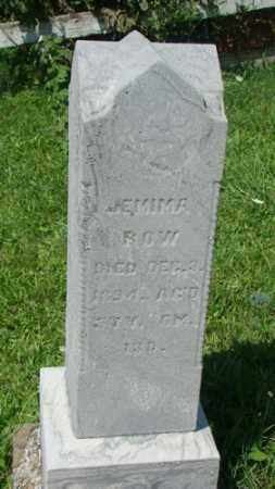 ROW, JEMIMA - Holmes County, Ohio | JEMIMA ROW - Ohio Gravestone Photos