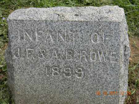 ROWE, INFANT - Holmes County, Ohio   INFANT ROWE - Ohio Gravestone Photos