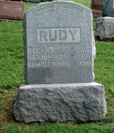 RUDY, FANNIE - Holmes County, Ohio | FANNIE RUDY - Ohio Gravestone Photos