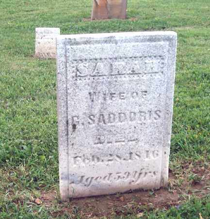 SADDORIS, SARAH - Holmes County, Ohio | SARAH SADDORIS - Ohio Gravestone Photos